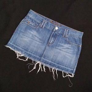 NWOT A&F Raw Hem Jean / Denim Mini Skirt